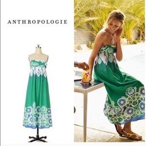 Moulinette Soeurs Strapless Cotton Maxi Dress